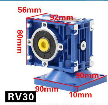 все цены на Send governor / 60W DC motor RV30 gear reducer motor worm gear motor 12V24V speed motor онлайн