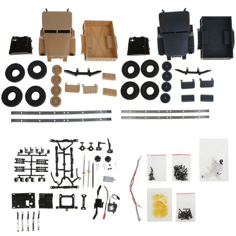 WPL B14 1:16 4WD 2.4G RC Rock Car Crawler Military Truck Buggy Off Road Vehicles DIY Assembly