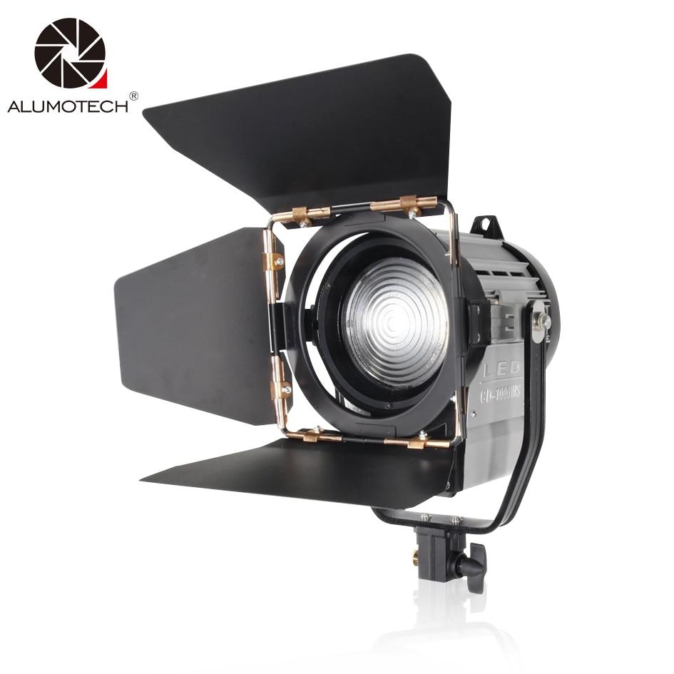 ALUMOTECH Dimmable Bi-color 100W LED Studio Fresnel spot Light 3200/5500K for Studio Camera Photo video Equipment
