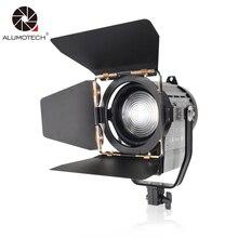 ALUMOTECH Dimmable Bi-color fresnel светодиодная студийная подсветка Вт 3200 5500 К для студийной камеры 100