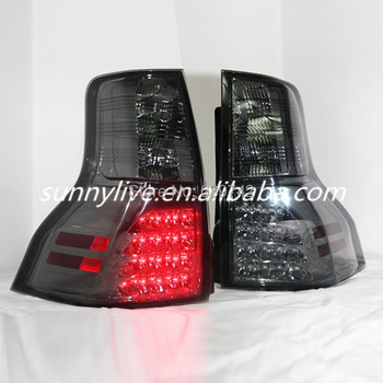 For TOYOTA FJ Cruiser FJ150 Prado 2700 LED Tail Lights Smoke Black Color 2009 TO 2012 SN V3 Style