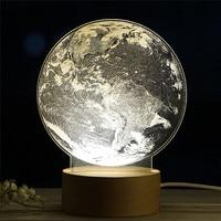 EARTH shape lamp LED 3D Illuminated Lamp Optical Desk Night Light Milky Way Panel Acrylic 3D LED Earth Lamp 40DC28
