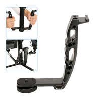 DH 03 L Type Bracket Microphone Stand Handle Grip Video Monitor Mount for DJI Ronin s Zhiyun Crane 2 Moza air 2 Gimbal Accessory