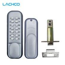 LACHCO механический кодовый замок цифровой техники клавиатуры вход по паролю замок шпингалет из нержавеющей стали цинковый сплав серебра L17004
