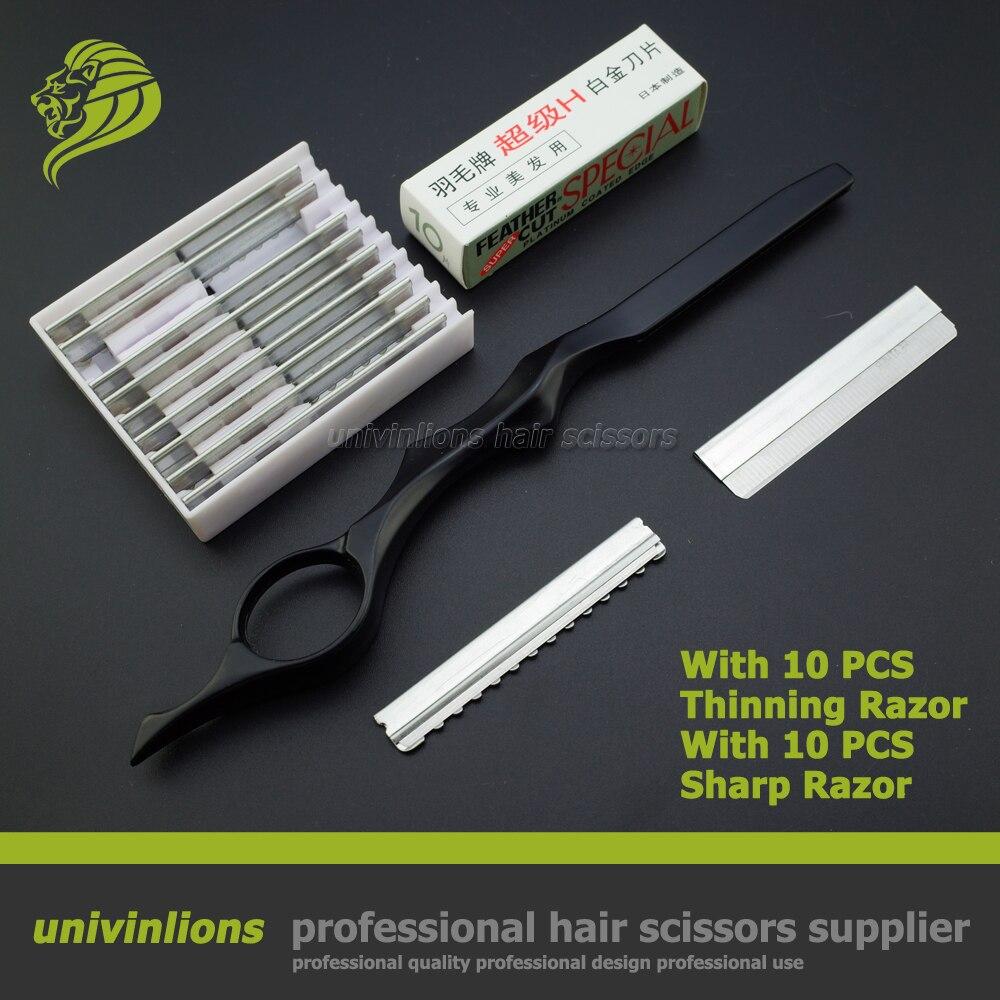 7 avec sharp/mince lame cheveux rasoir lame de rasoir coupe de cheveux de coiffure à effiler cheveux cutter barber rasoir ciseaux cheveux ciseaux