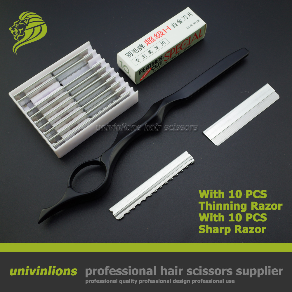 7 with sharp/thin blade hair razor hairdressing razor blade haircut thinning hair cutter barber razor scissors hair scissors u star excellent rate of ua 91570 ultra thin blade single blade model steel pliers ultimate gold scissors