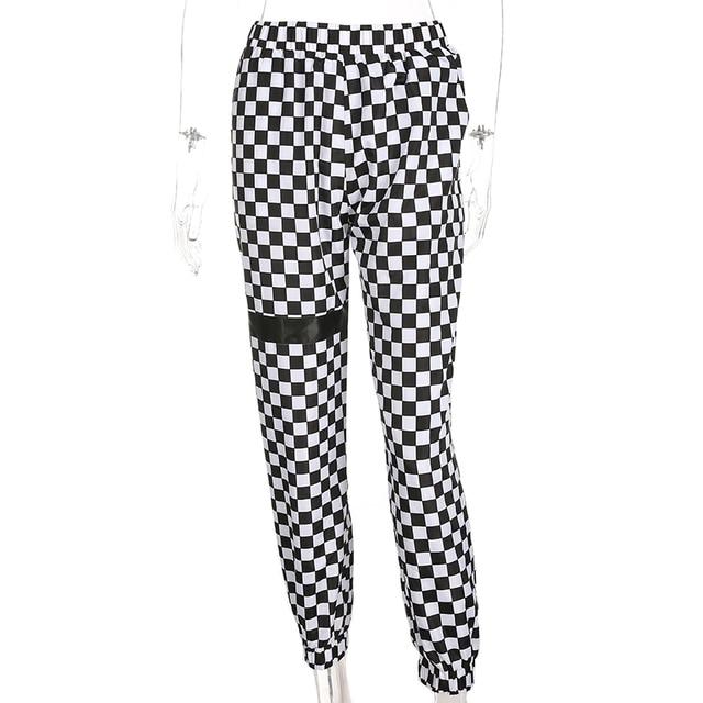 Sweetown CHECKERBOARD Track spodnie Spodnie damskie