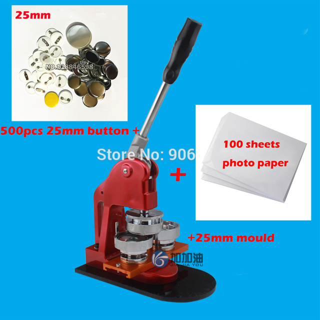 free shipping exported 1 25mm button badge maker machine 25mm die