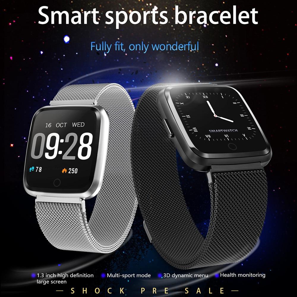 Smart Watch Y7 Smart Bracelet Wrist Watch Metal Heartrate Tracker Waterproof IP67 Wristband Wearable Devices Sep5