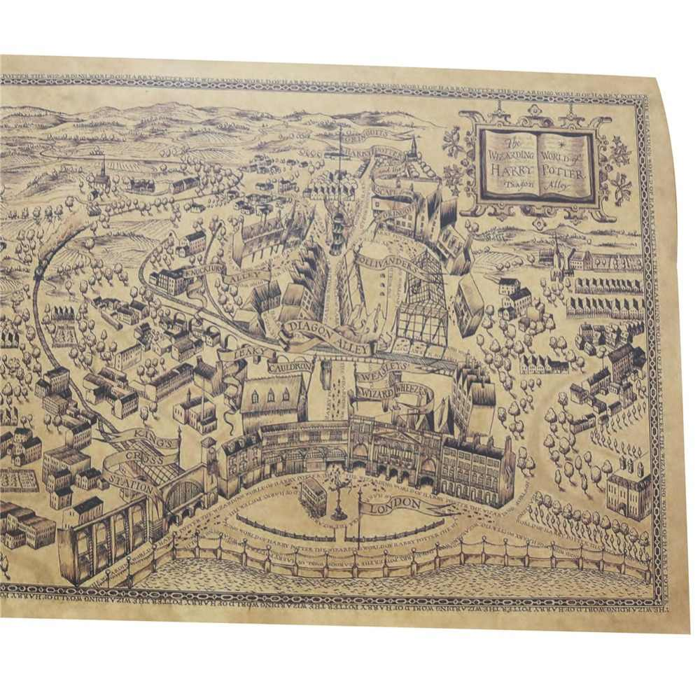 Detail Feedback Questions about 20 pcs Harry Potter Magic World Map ...