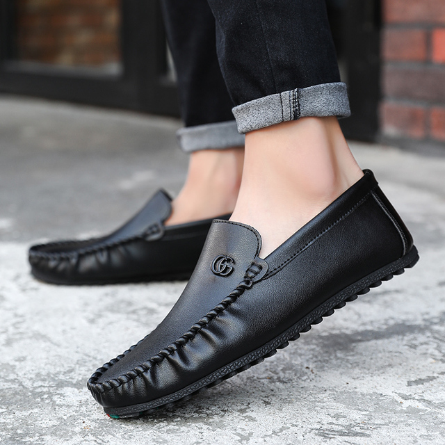 31d40745bab Original Moccasins Gommino Drivers With GG Sylvie Web Buckle Loafers Luxury  Men Flats Winter Leather Moosehide Weekender Shoes