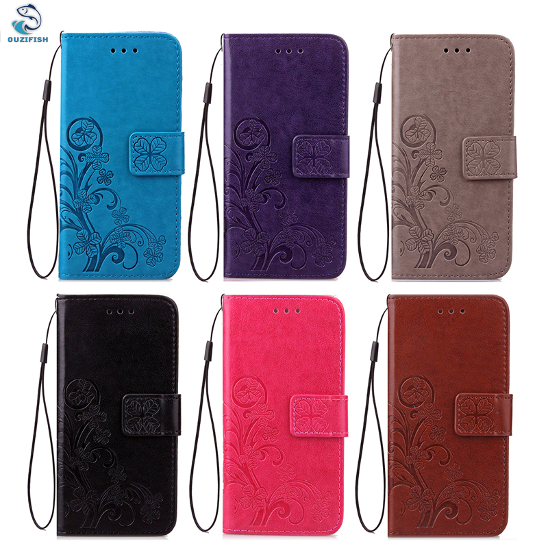 OUZIFISH Luxury Flip Case For iphone 4 4S 5 5S 5C SE 6 6S 7 7S PLUS Cover PU Leather Wallet Stand For Ipod touch 5 6 Case Cover