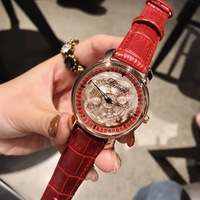 2018 Hot Fashion Starry Sky Red Women Watches Luxury Quartz Leather Strap Colock Rosefield Watch Ladies Wristwatches Reloj Mujer