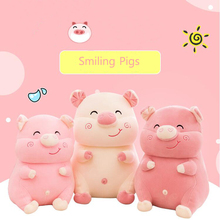New Arrival Smiling Pigs Plush Toy Stuffed Animal Pig Plush Doll Best Gifts For Children's Kids