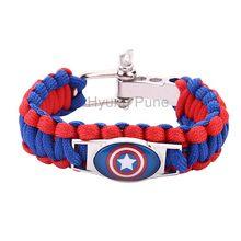 ced21f370762 ¡Super héroe Batman Capitán América Superman de supervivencia Paracord pulsera  para los hombres las mujeres