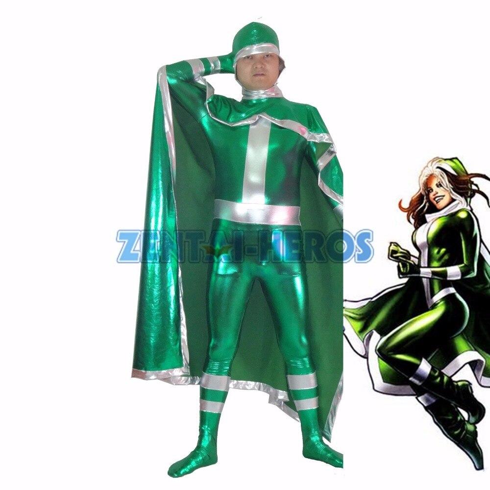 Nouveau X-hommes Rogue Vert Superhero Costume Halloween Party Cosplay Sexy Costumes Catsuit Zentai Costume