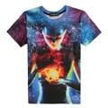 2016 Mais Novo galaxy espaço impresso camisa criativo t 3d camiseta verão dos homens da novidade 3D feminina psicodélico tee camisas roupas