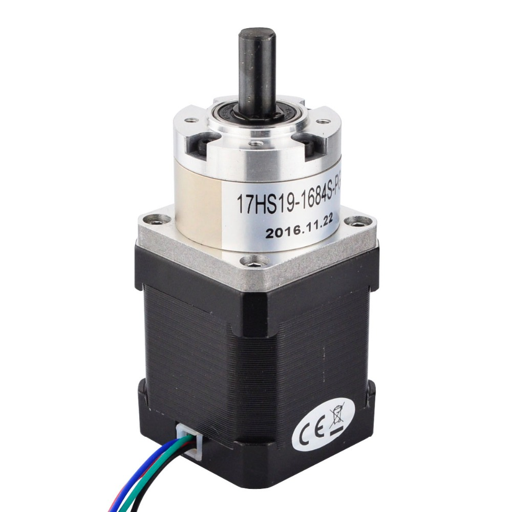 Nema 17 Geared Stepper Motor 1.8 deg Bipolar L=48mm w/ Gear Ratio 5:1 planetary reduction gearbox Nema 17 Gear 57mm planetary gearbox geared stepper motor ratio 10 1 nema23 l 56mm 3a