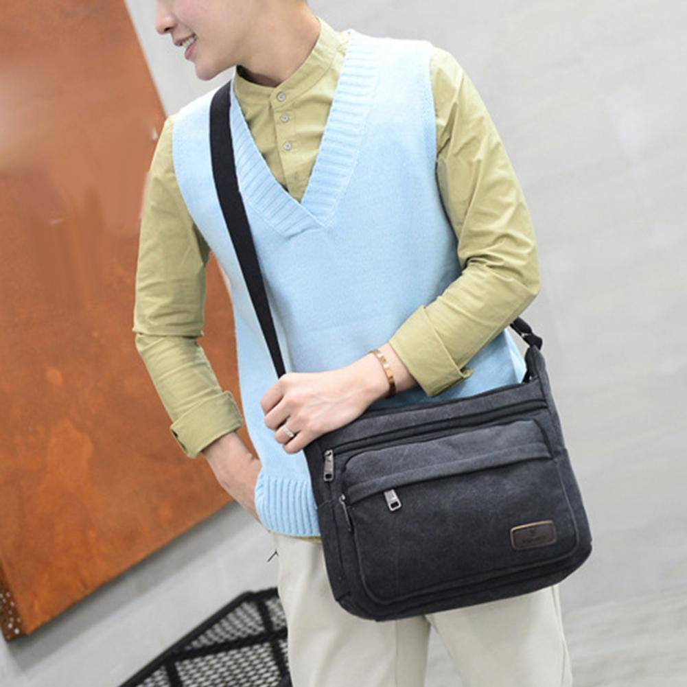 Casual Men Shoulder Bag Canvas Large Capacity Travel Top Quality Crossbody Bags For MenCasual Men Shoulder Bag Canvas Large Capacity Travel Top Quality Crossbody Bags For Men