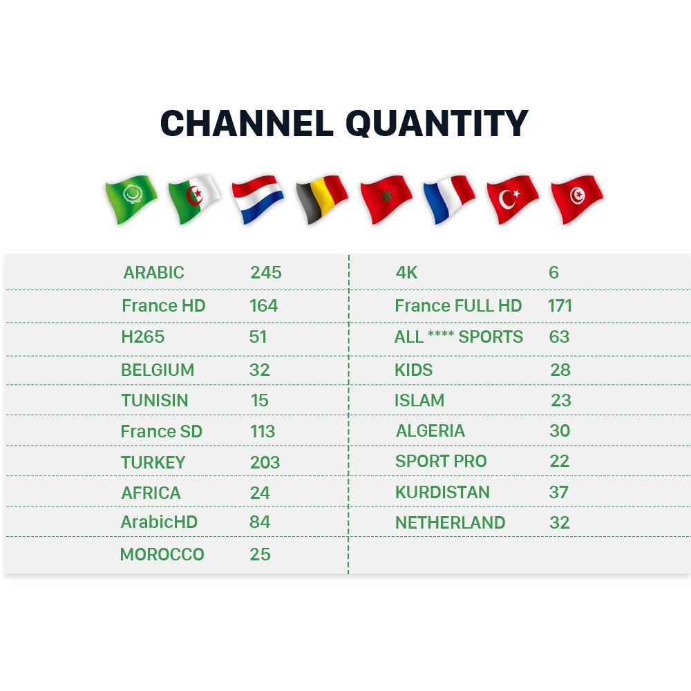 IPTV Arabic France A95X R2 Box 1 month IP TV Free Algeria Turkey IPTV Subscription TV Box IPTV Morocco Belgium Netherlands IP TV