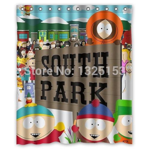 Custom Funny South Park Shower Curtain 60x72 Inch Bath Curtains