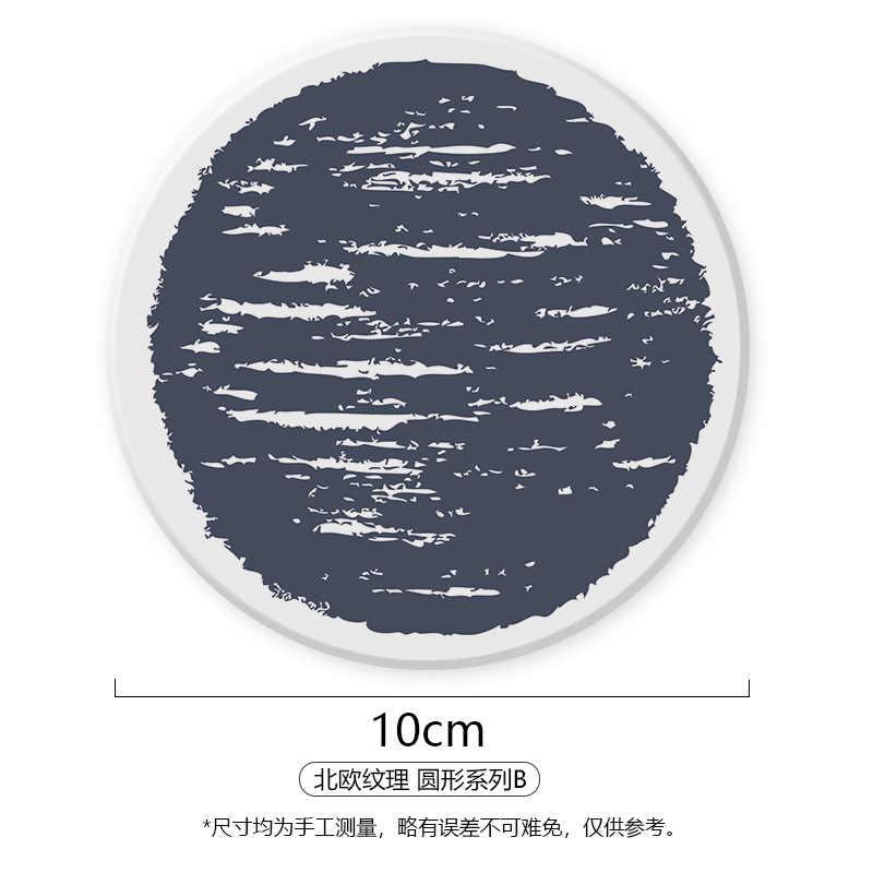 Tasse tasse tasse Diatomite absorption d'eau tapis résistant à la chaleur marmite circulaire protection de l'environnement tasse support rond bol coussinet