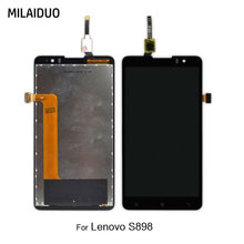 LCD Display For Lenovo S898T S898 Touch Screen Digitizer Full Assembly Replacement Black No Frame 100% Tested цены