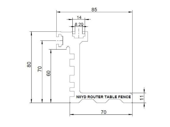 Купить с кэшбэком Heavy Duty Professional Router Table Fence 910mm long