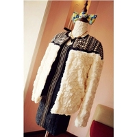 2016 Hot Sale New Winter Long Sleeve Beading Thick Warm Jackets And Coats Women Winter Wool