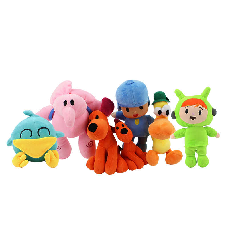 14-24 cm LOULA Pocoyo pequeno e PATO pato boneca de brinquedo de pelúcia animal bonito do cão e pato de pelúcia macia toy boneca para presente das crianças
