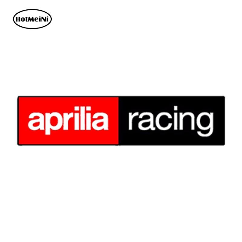 HotMeiNi Waterproof Car Styling VINYL STICKERS APRILIA RACING AUTO MOTO GP MOTORCYCLE SPORT CAR HELMET 15cm x 3cm