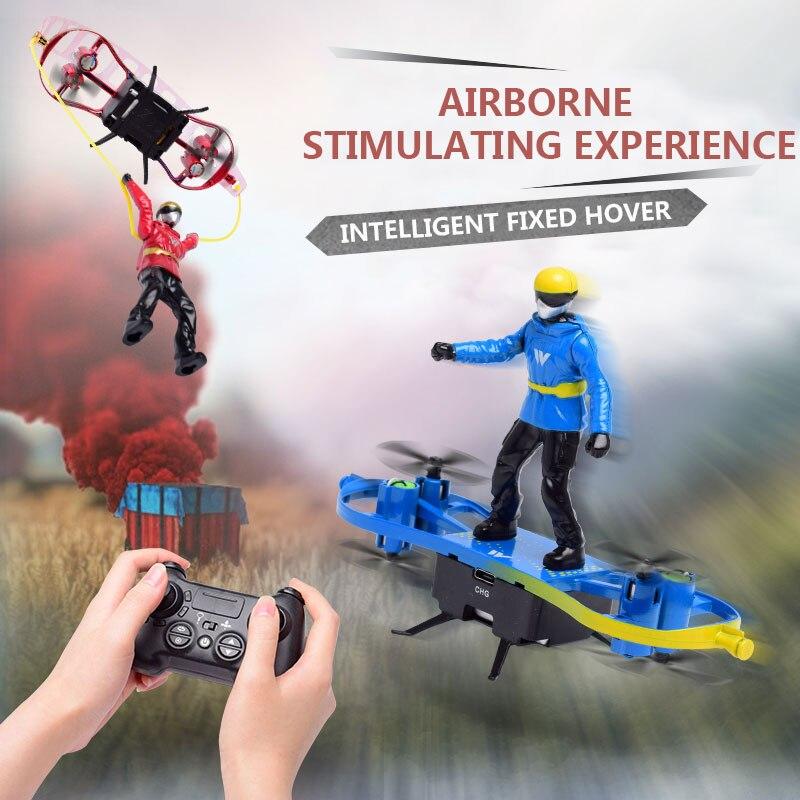 RC самолет дистанционного управления игрушка двойной режим Смешные Мальчики самолеты парашют самолет-истребитель