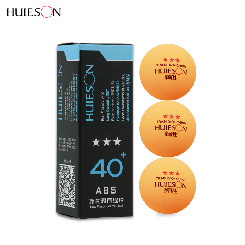 3pcs/pack Professional Plastic Ping Pong Ball 40+mm 3 Star New Material ABS Table Tennis Balls Table Tennis Accessories