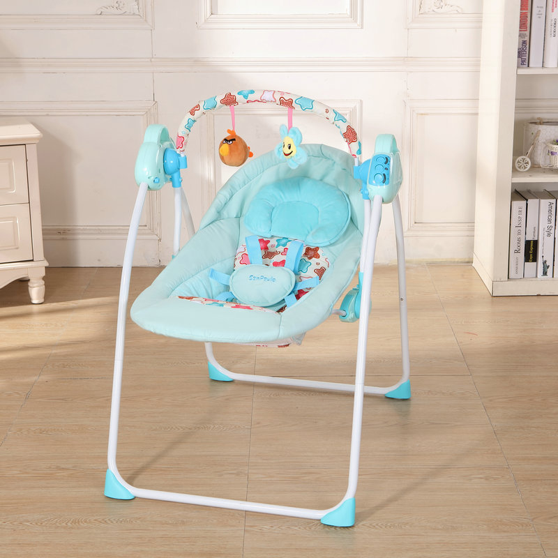 Fashion Baby Bouncers Swings Folding Portable Electric Baby Rocking Chair Safe Baby Sleeping Basket цены