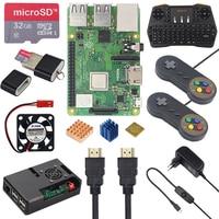 Raspberry Pi 3 Model B+ Game kit+ 32GB SD Card ABS Case + 2.4G Keyboard + 2 Game Controller + Power Adapter + HDMI + Heatsinks