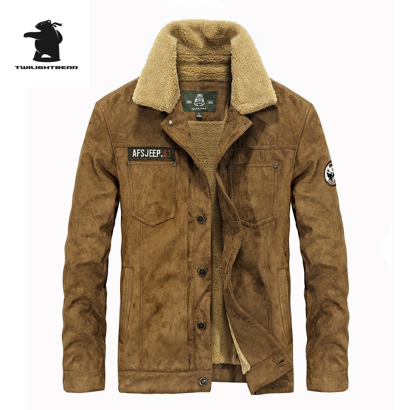 Brand Casual Cotton Lined Jacket New Fashion High Quality Thickening Winter Jacket Men Fleece Warm Coat Parkas M~3XL D16E16818 faux suede fleece lined winter coat