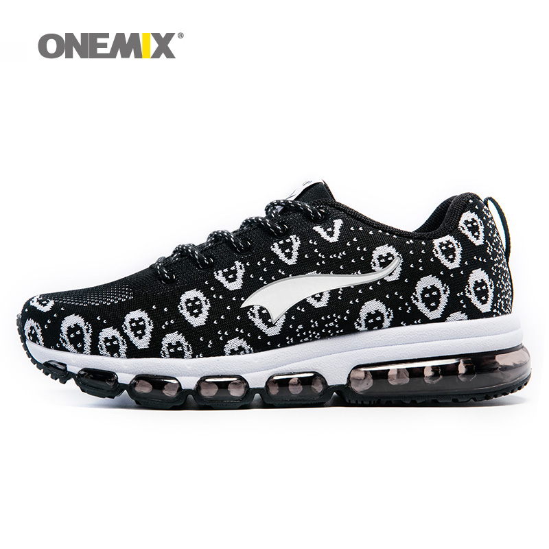 ONEMIX 2018 Man Running Shoes Men Nice Run Athletic Trainers Monkey White Black Sports Shoe Max Cushion Outdoor Walking Sneakers 2016 sale hard court medium b m running shoes new men sneakers man genuine outdoor sports flat run walking jogging trendy