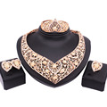 2016 Brand Unique Design Fashion Dubai Gold Jewelry Set High Quality Nigerian Wedding African Beads Jewelry Set FAS057