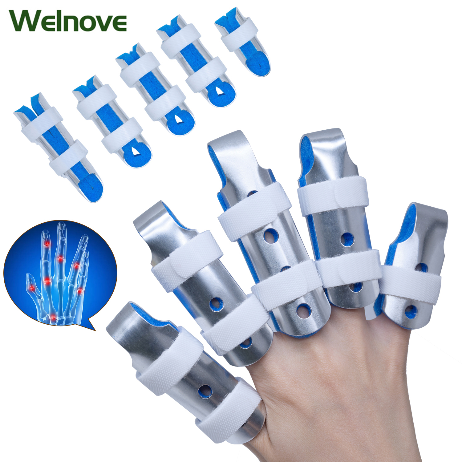 3Pcs Finger Brace Support Protector Bandage Pain Open Basketball Volleyball Finger Sleeve Wrist Protection Support D1238