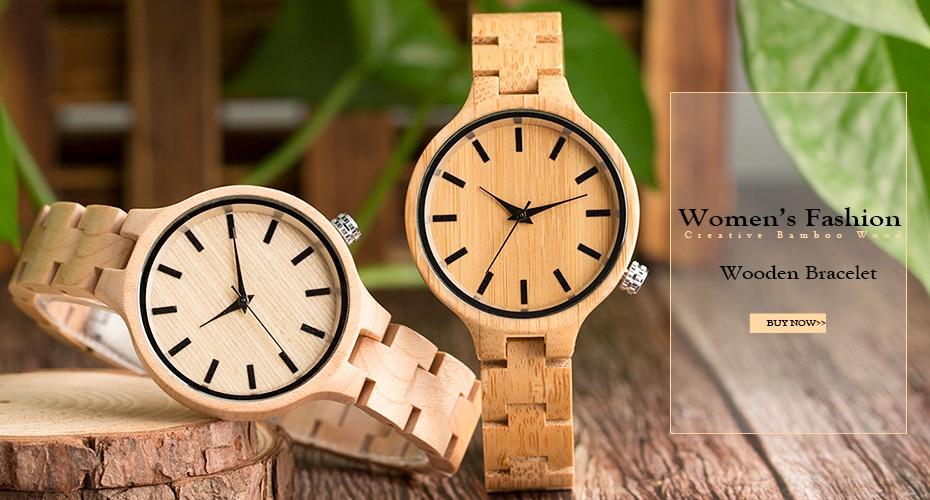 YISUYAสร้างสรรค์ไม้นาฬิกาฉลามปลาบุรุษสตรีธรรมชาติไม้ไผ่ไม้ควอตซ์นาฬิกาข้อมือสบายๆหนังโชคด... 1