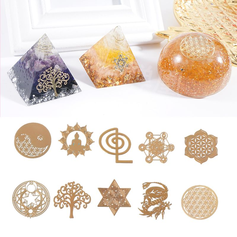 Energy Tower Pattern Paste Copper Stickers For DIY Making Mould Craft Jewelry Tool Jewelry Making 2019 Gifts
