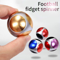 New Football Fidget Spinner Fingertips Aluminum Alloy Toy Round Polyhedron Rotation Hand Spinner For Anti Stress