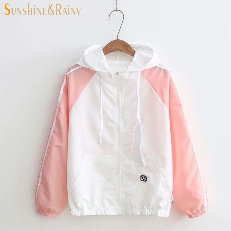 Womens Sunscreen 2018 New Korean Small Fresh Girls Student Summer Coat Female Thin Long Sleeve Sunscreen Clothes Causal Jacket
