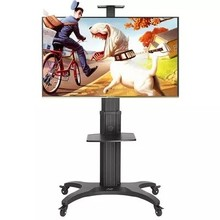 NB AVF1500-50-1P Aluminum Alloy 32~65 inch Moveable TV Trolley Flat Panel LED LCD Plasma Cart with AV shelf and Camera Holder