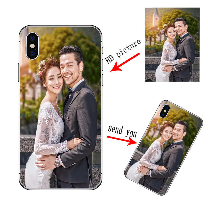 Disesuaikan Diy Phone Case untuk iPhone X XS MAX 8 7 6 6 S Plus iPhone 11 Pro Max 2019 5 5 S SE Dicetak Lembut Cover Photo Case