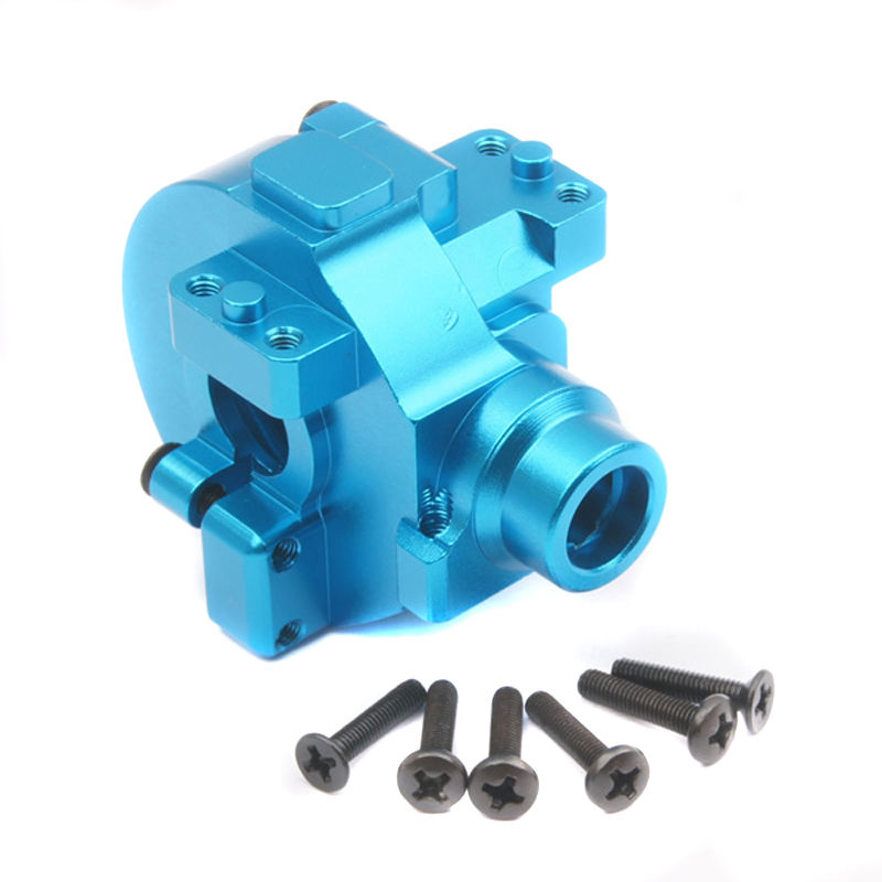 RC HSP 122075 Aluminum Gear Box with Screw 02051 Transmission Set 1:10th Upgrade Parts Fit Himoto Redcat Racing aluminium gear box upgrade parts 122075 blue for 1 10 rc car hsp redcat himoto
