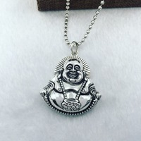 925 sterling silver laugh Buddha belly pendant