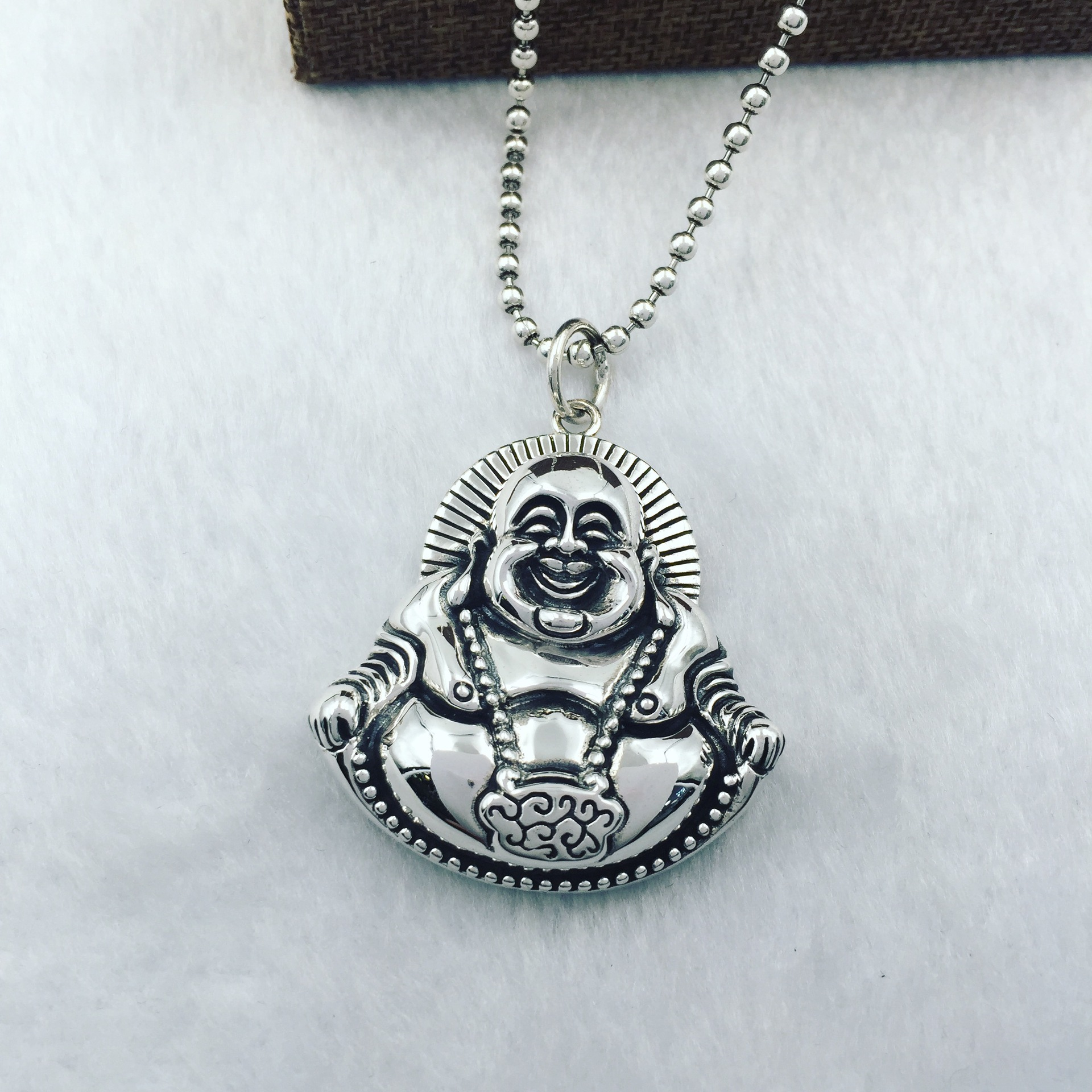925 sterling silver laugh Buddha belly pendant925 sterling silver laugh Buddha belly pendant