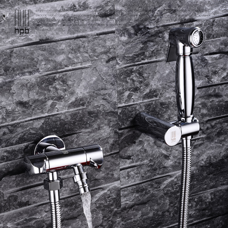 Full copper bidet suite toilet angle valve gun nozzle bidet bidet faucet can be accessed washing machine