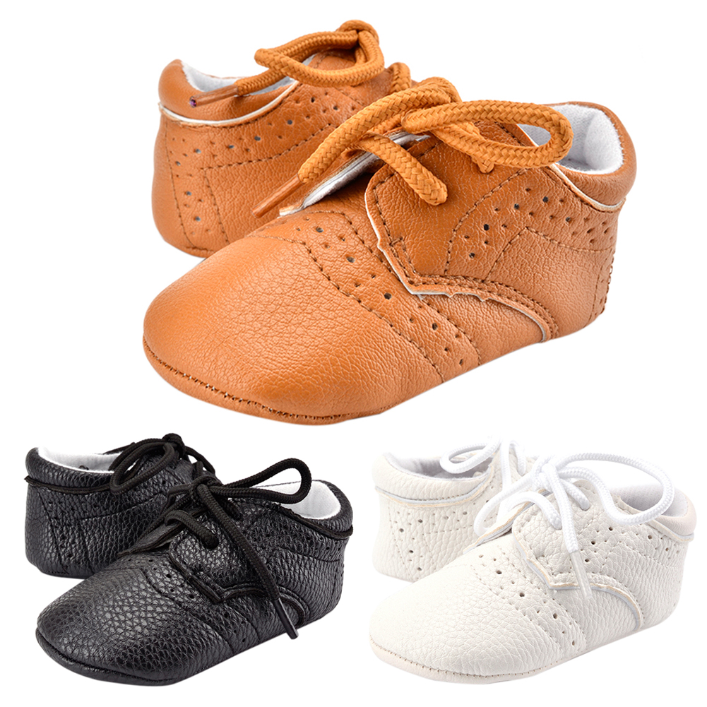 Baby Shoes Toddler Infant Unisex Boys Girls Soft PU Leather Shoes Baby Moccasins Newborn Anti Slip First Walkers
